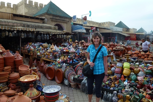 No lack of pottery available in Meknes!