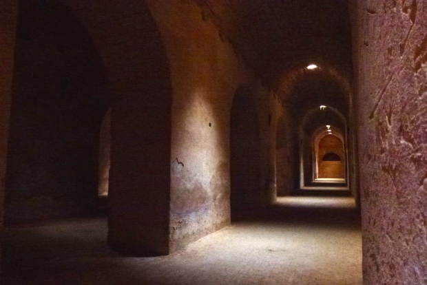 Inside the subterranean vaults of the Prison of the Christian Slaves.