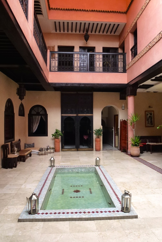 Interior of Riad Yacout, our home in Meknes. Great place.
