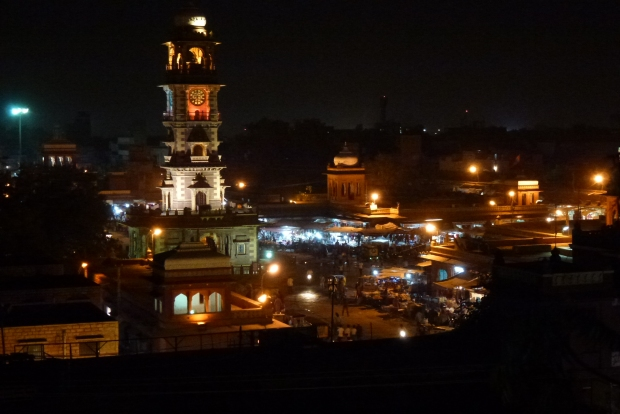 A view of the Clock Tower at night.