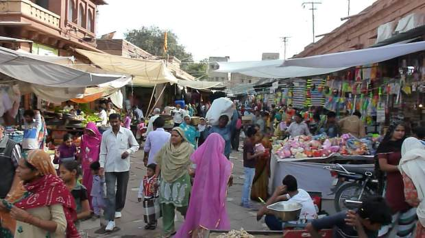 Markets near the Clock Tower.