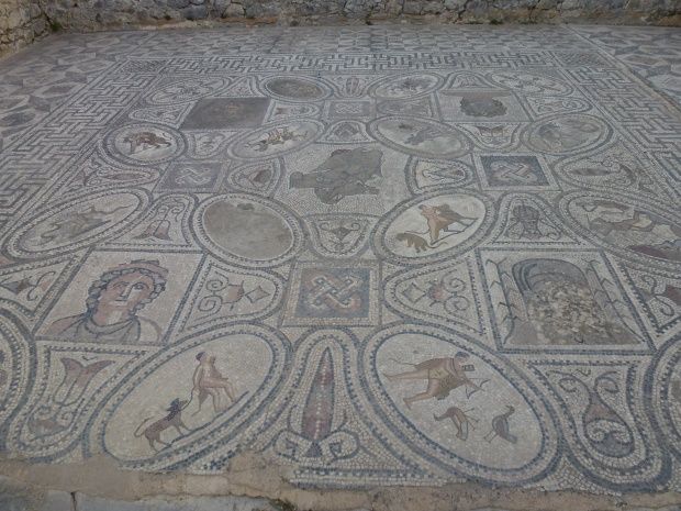 "Another mosaic floor  - ""The Labors of Hercules."""