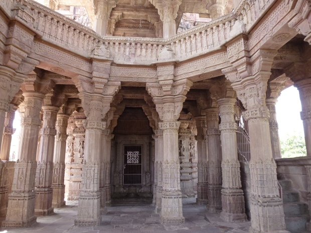 Inside one of Mandore's temples.