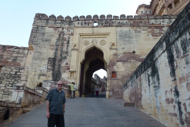 One of the gates leading into the fortress.