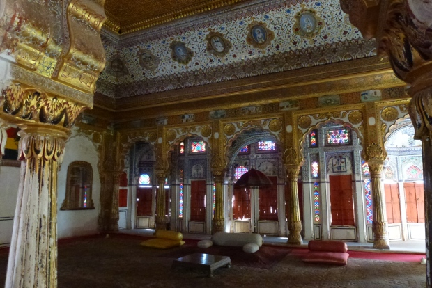 Interior of the Phool Mahal at Mehrangarh fort.