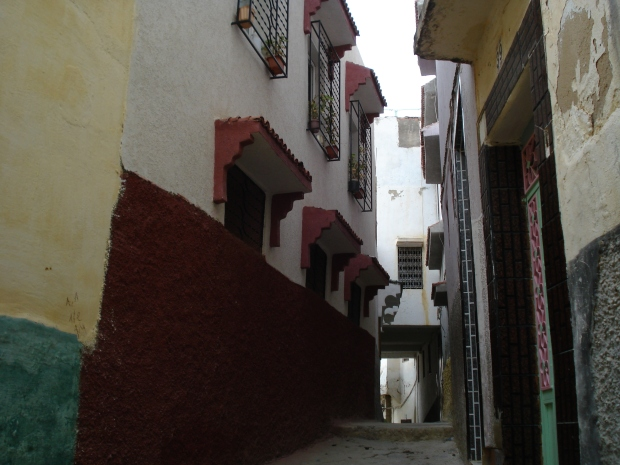 One of the many narrow lanes in the town.