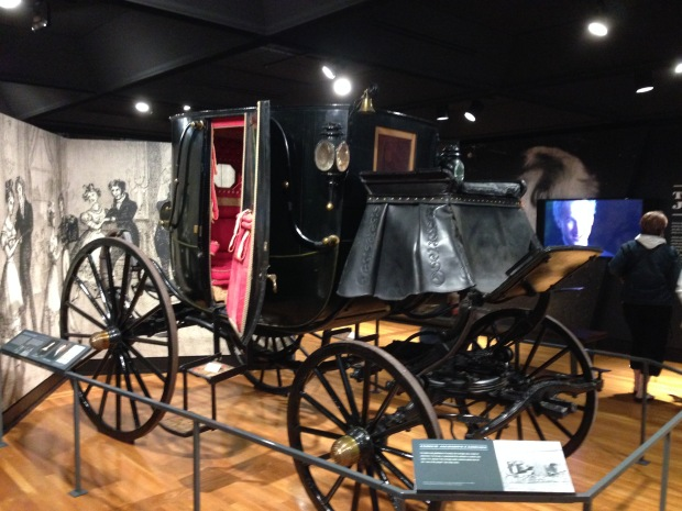 Andrew Jackson's fancy carriage, which was a status symbol of the day.