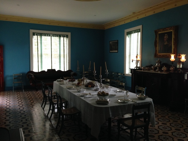 The dining room in The Hermitage mansion.