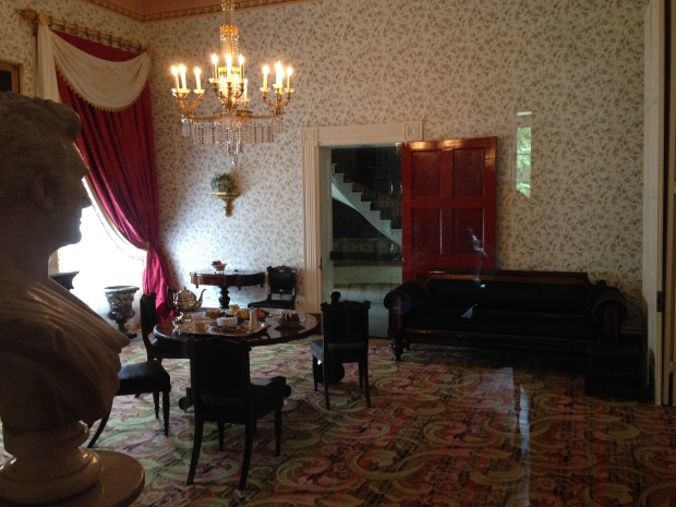 A parlor room in The Hermitage mansion.