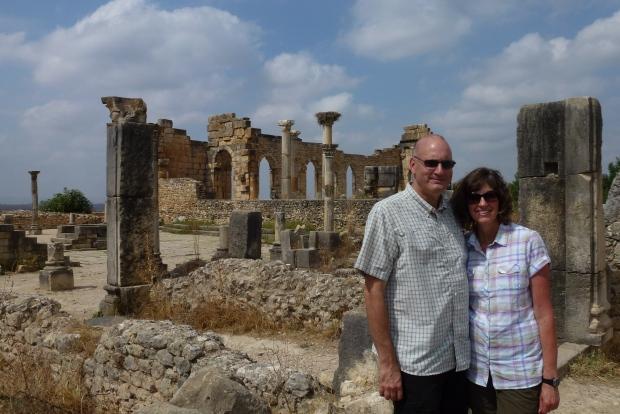 The Forum and Basilica at Volubilis.