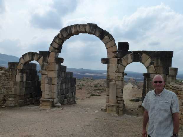 The Tangier Gate - the east entrance into Volubilis.