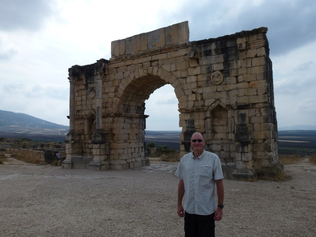 The Triumphal Arch, erected to honor the emperor Caracalla. It once had a bronze chariot at the top.