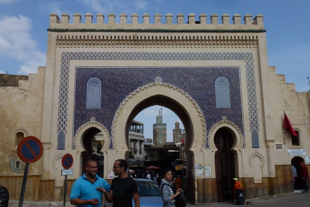 The gate known as Bab Boujeloud.