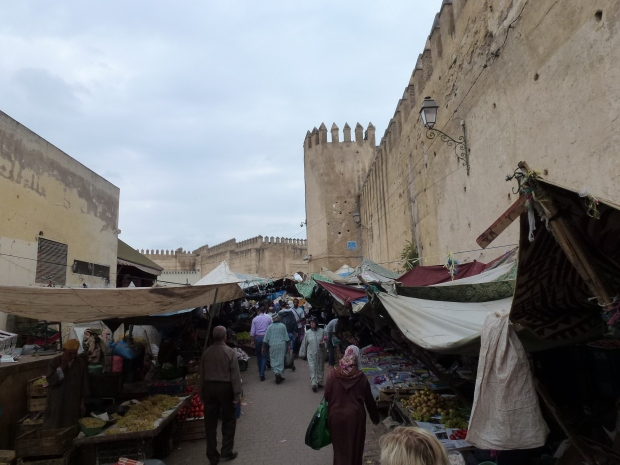 A market by the walls of Fez.