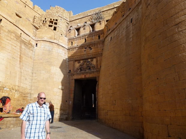 Entering Jaisalmer Fort through a succession of four gates on the northeastern side,
