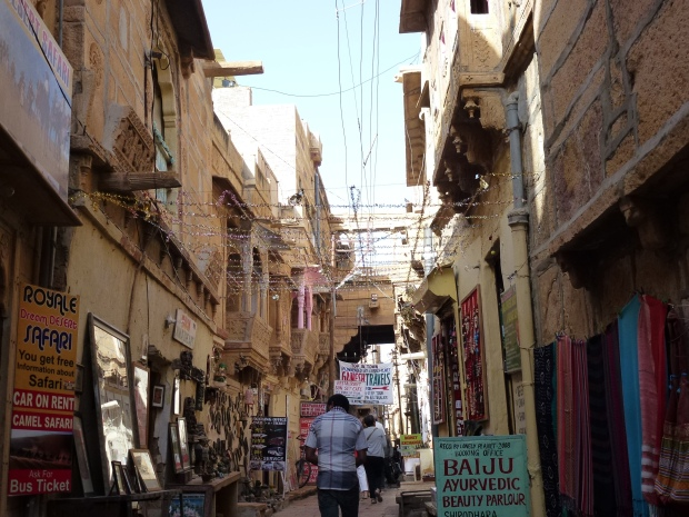One of the narrow streets in the fort city.