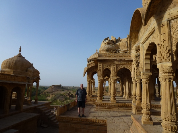 Just outside the city are the Bada Bagh Cenotaphs. These are memorials to the royal families of Jaisalmer.
