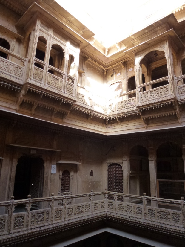 The internal courtyard of Kothari's Patwa-Haveli Museum.