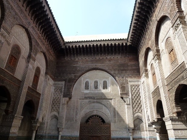 The courtyard of Medersa el Attarine.
