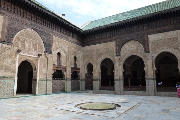 A view of the courtyard of Medersa Bou Inania.
