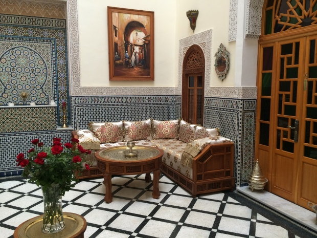 The reception room in Dar Dalila.