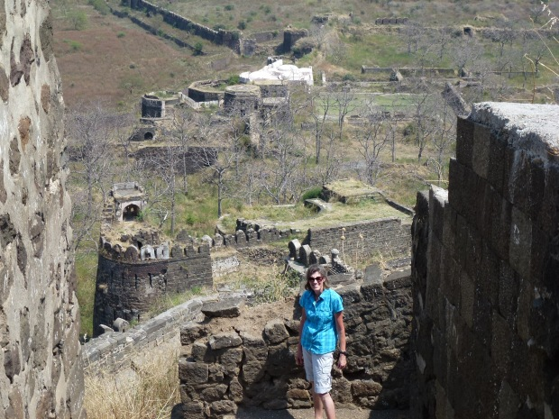 After surviving the dark passage - we're hiking up to the top of the Fortress. Some of the extensive walls and defensive fortifications are visible in this image.