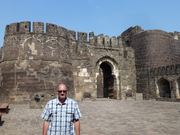 One of the gated entrances to Daulatabad Fortress.