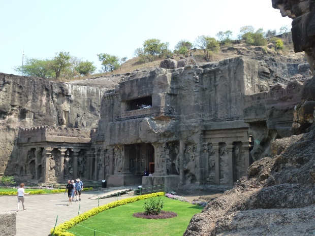 The entrance to the Kailasa Temple.