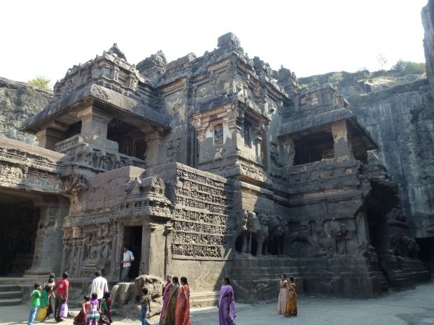 Kailasa Temple from the courtyard.