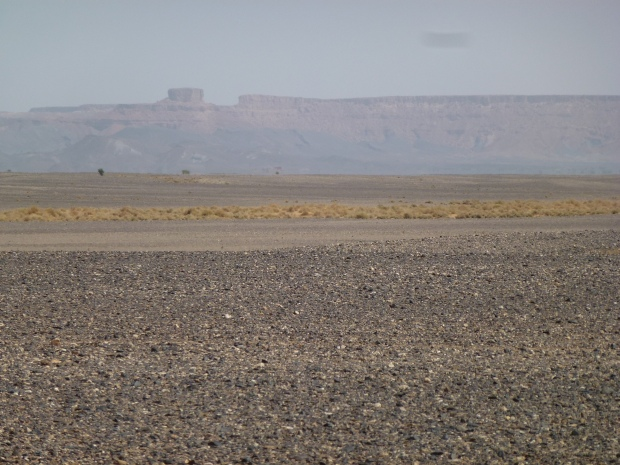 The Algerian border is the high ridge in the distance.