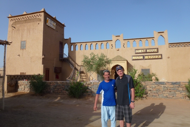 Our guest house in Merzouga. The owner helped us arrange a day tour and camel ride.
