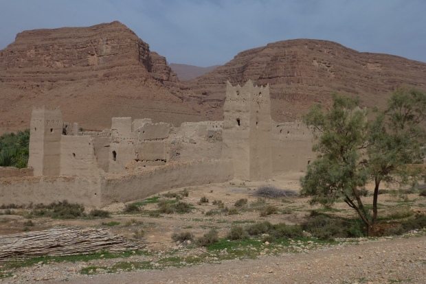 An abandoned kasbah on the way to Merzouga.
