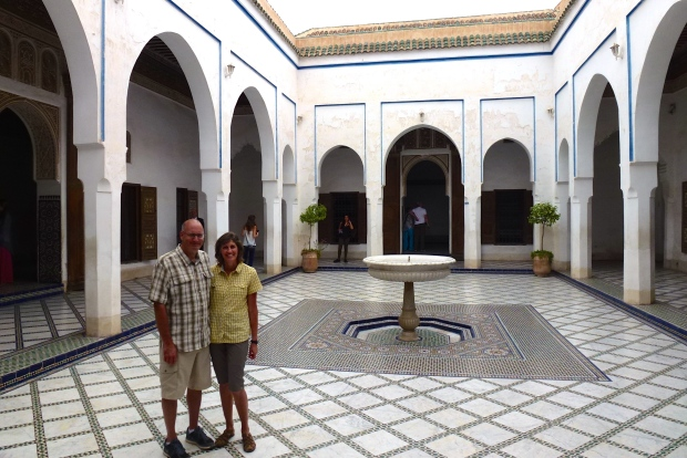In the Harem courtyard. Four wives and 24 concubines inhabited this part of the palace.