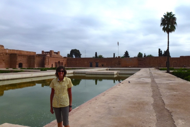 The large pool at El Badi Palace.
