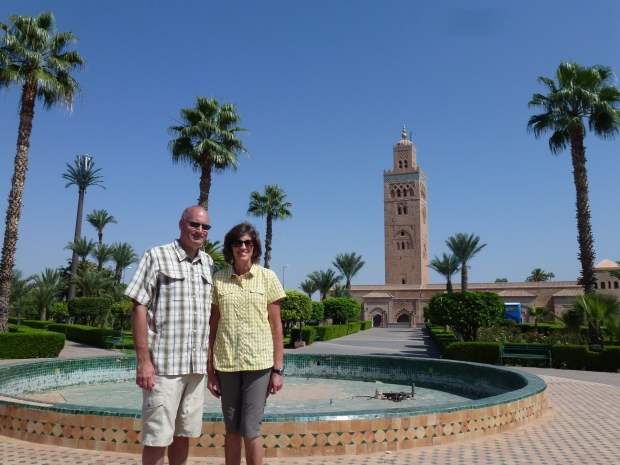 A view of the Koutoubia Tower.