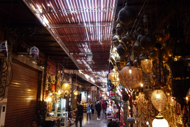 One of the alleys in the Marrakech souks.