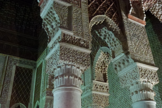 Interior detail of the Saadian Tombs.