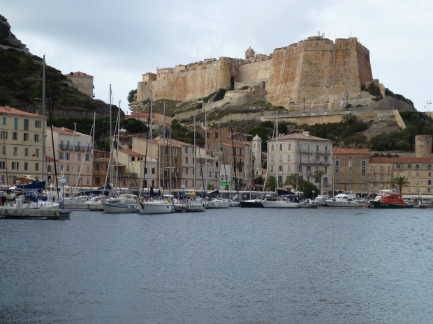 "If driving in to Bonifacio, this is your first stunning view. The ""Stronghold of the Standard"" bastion was used until the 18th century by the Genoese to defend Bonifacio."