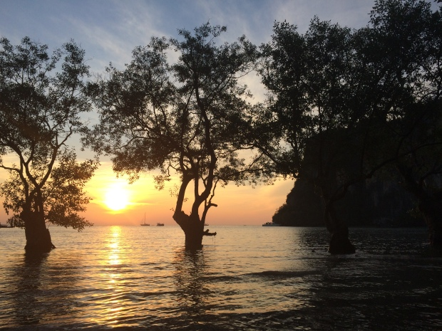 Sunrise on East Railay Beach.