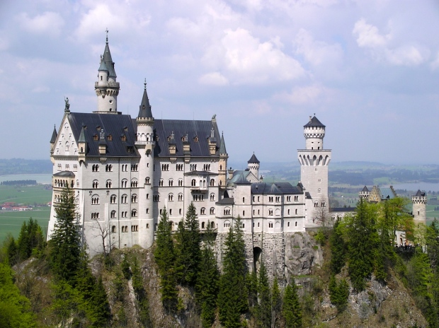 This view of Neuschwanstein was taken from Mary's Bridge, a short hike to the south of the castle.