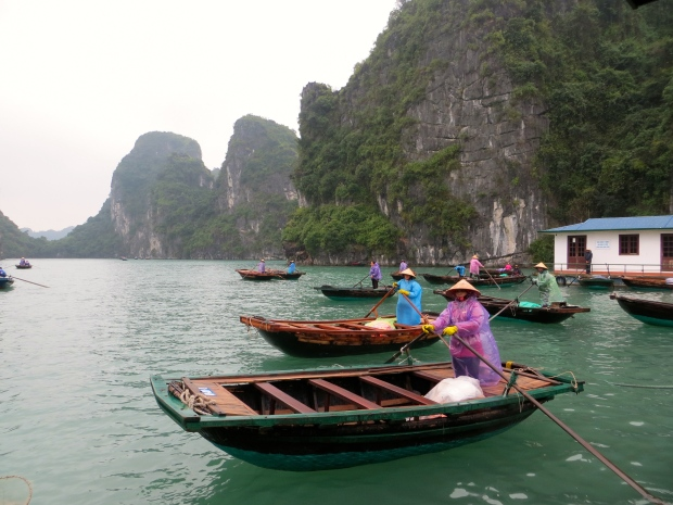 Floating village, Ha Long Bay Cruise, Vietnam.