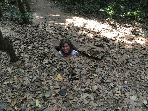 Hidden entrance to Cu Chi Tunnels