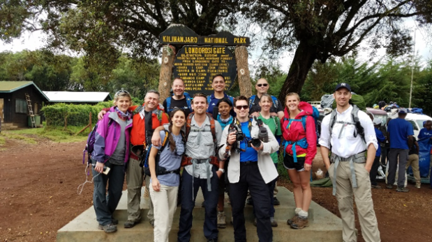Mt. Kilimanjaro climging group.