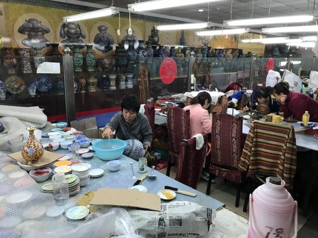 Cloisonné factory, Beijing, China