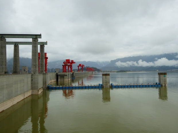 Three Gorges Dam, Yangtze River, China.