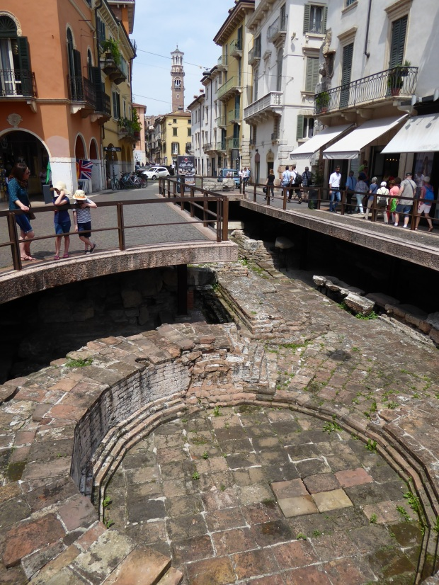 Roman ruins, Verona, Italy