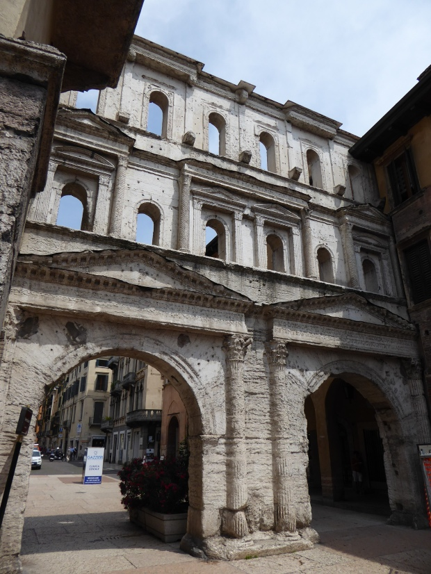 Roman gate, Verona, Italy