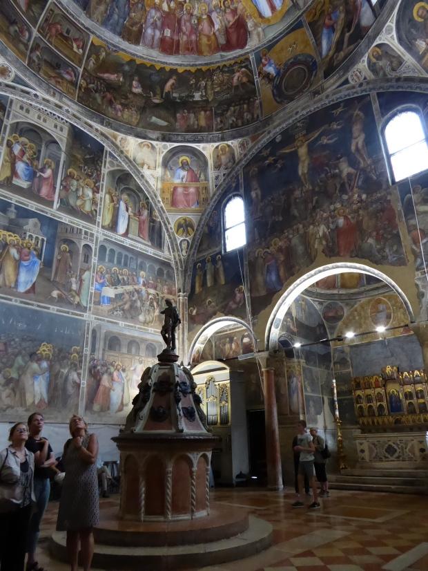 Interior of Padua's Duomo Baptistery