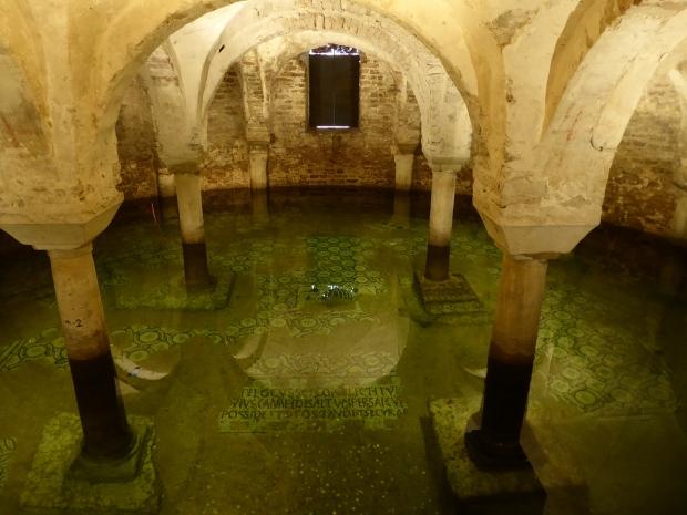 Basilica San Francesco crypt, Ravenna, Italy