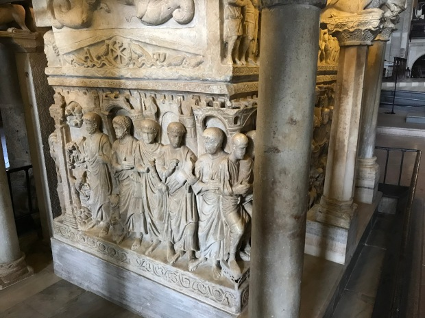 Sarcophagus, Basilica Sant' Ambrogio, Milan, Italy